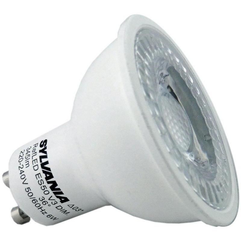 Sylvania 5W Non Dimmable LED GU10 3000K 345LM 0028433