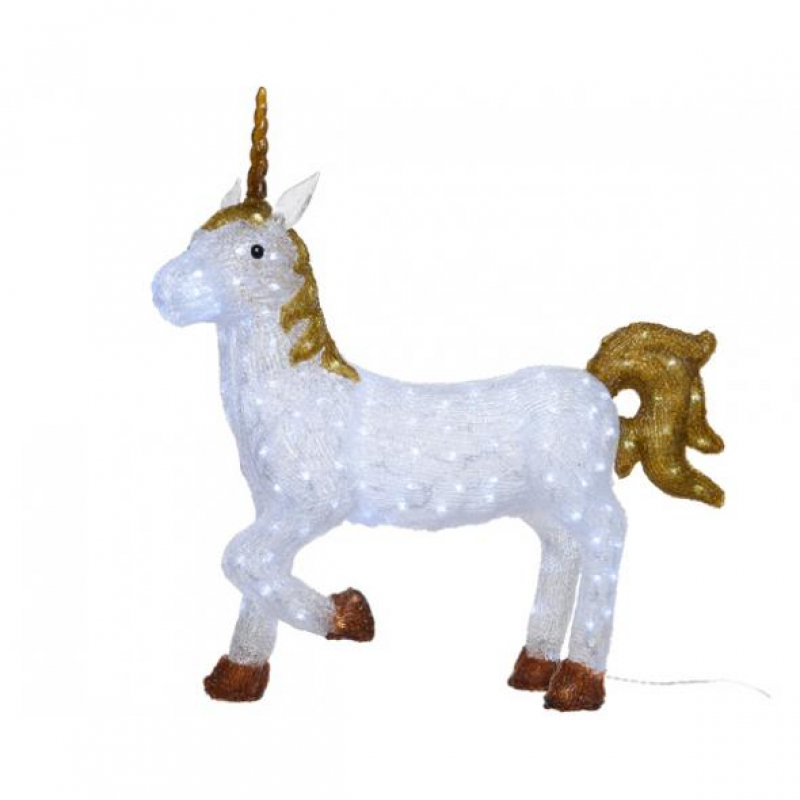 Kaemingk LED Acrylic Standing Unicorn Cool White