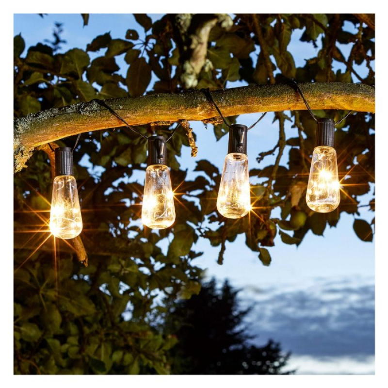 Set of 10 Solar Eureka Fairy Lights 1060265