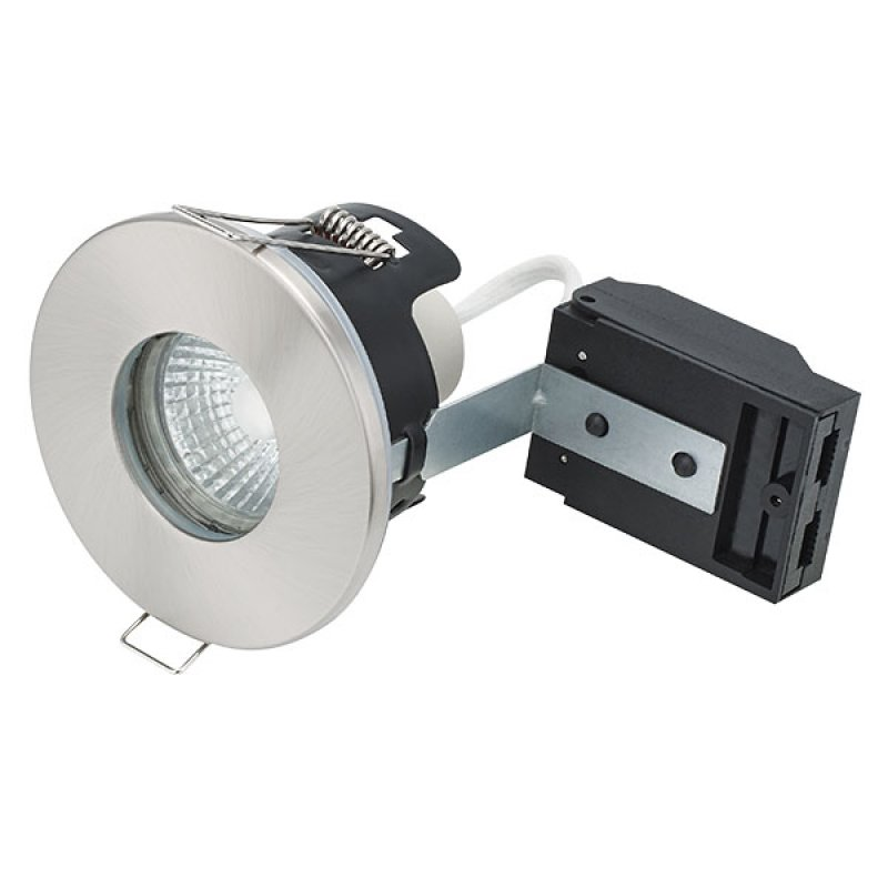 Bell 10651 Firestay MV Showerlight Downlight IP65 Satin Nickel