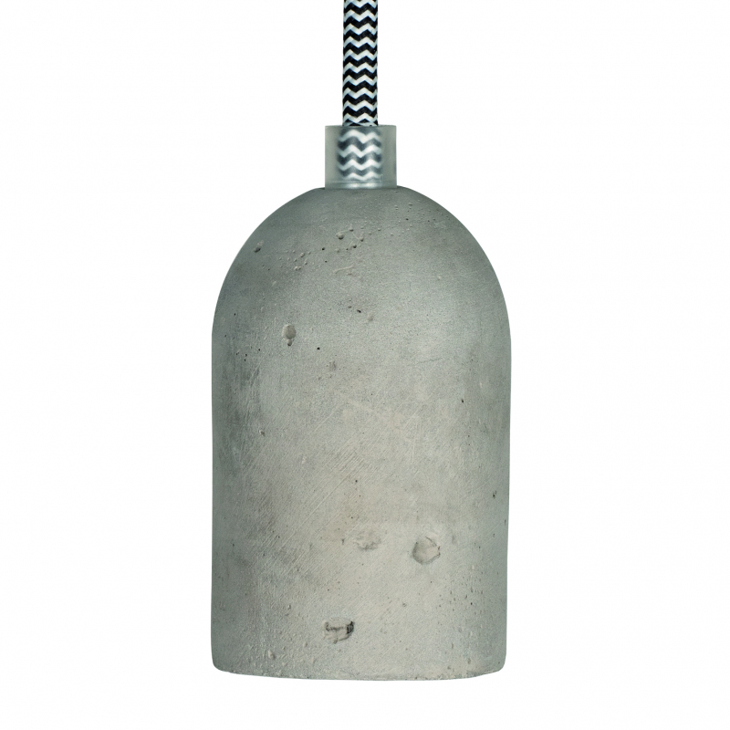 Grey Concrete Hanging Lampholder Pendant ES-E27mm With Cable