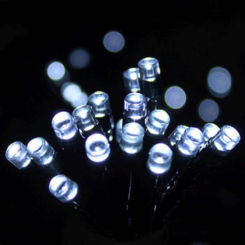 Dusk To Dawn LED Solar String Lights x100 White