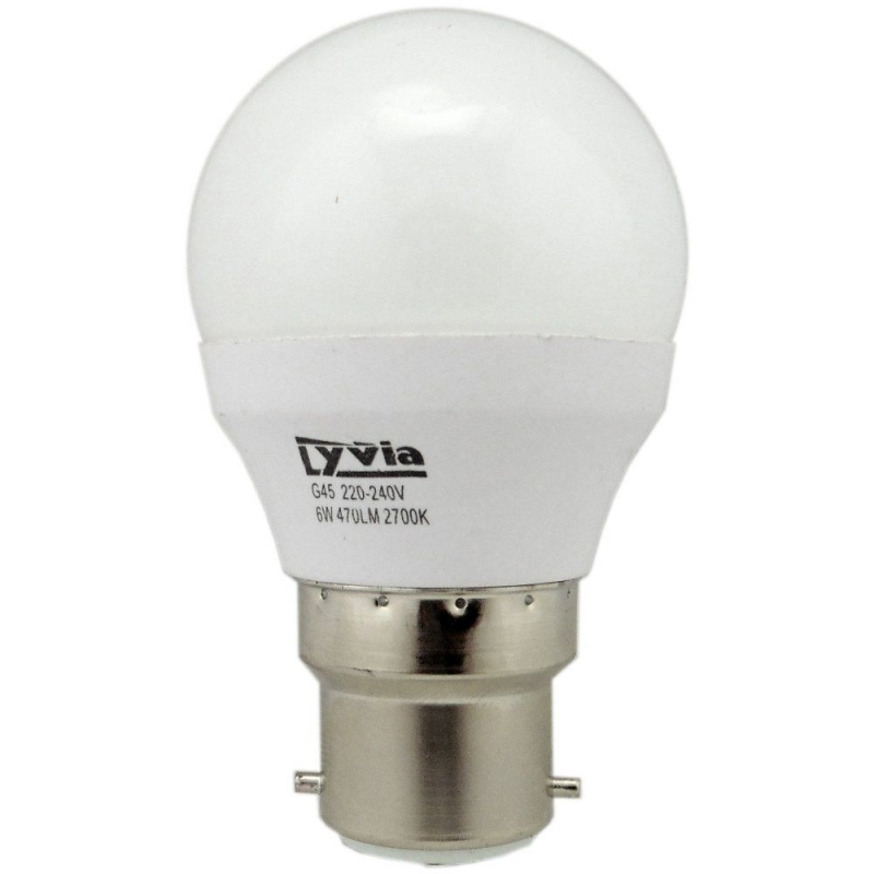 LyvEco 6W BC/B22d Golfball 2700K Non-Dimmable 3639