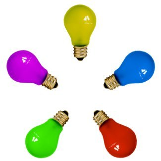 GLS Coloured ES 25Watt Lamp Pack