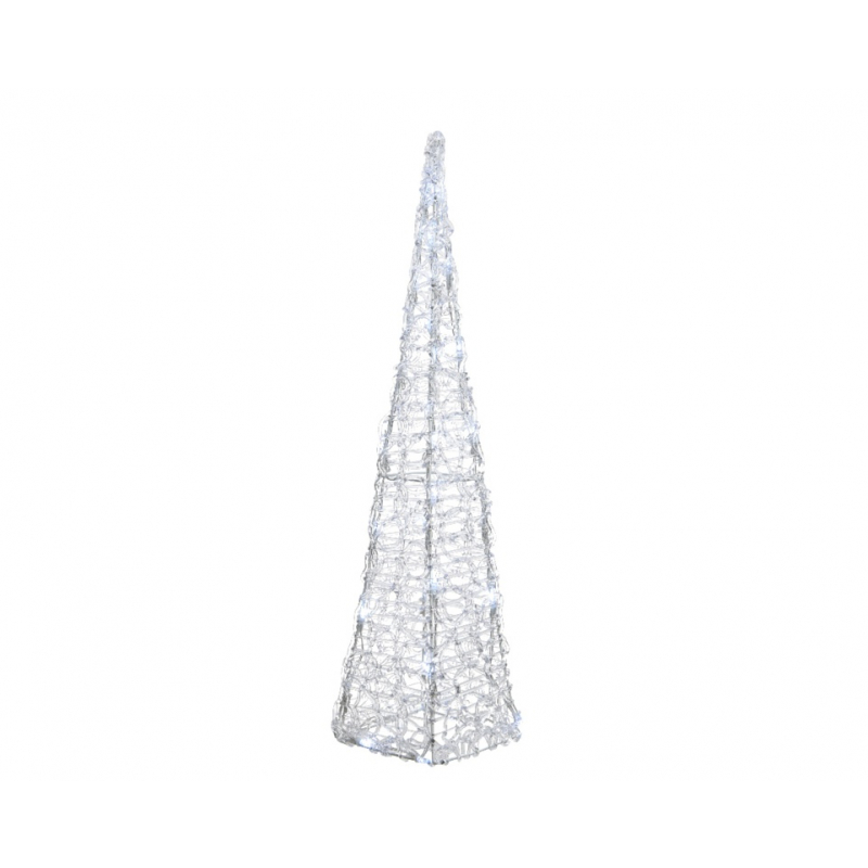 Kaemingk LED Acrylic Christmas Pyramid 60cm Cool White