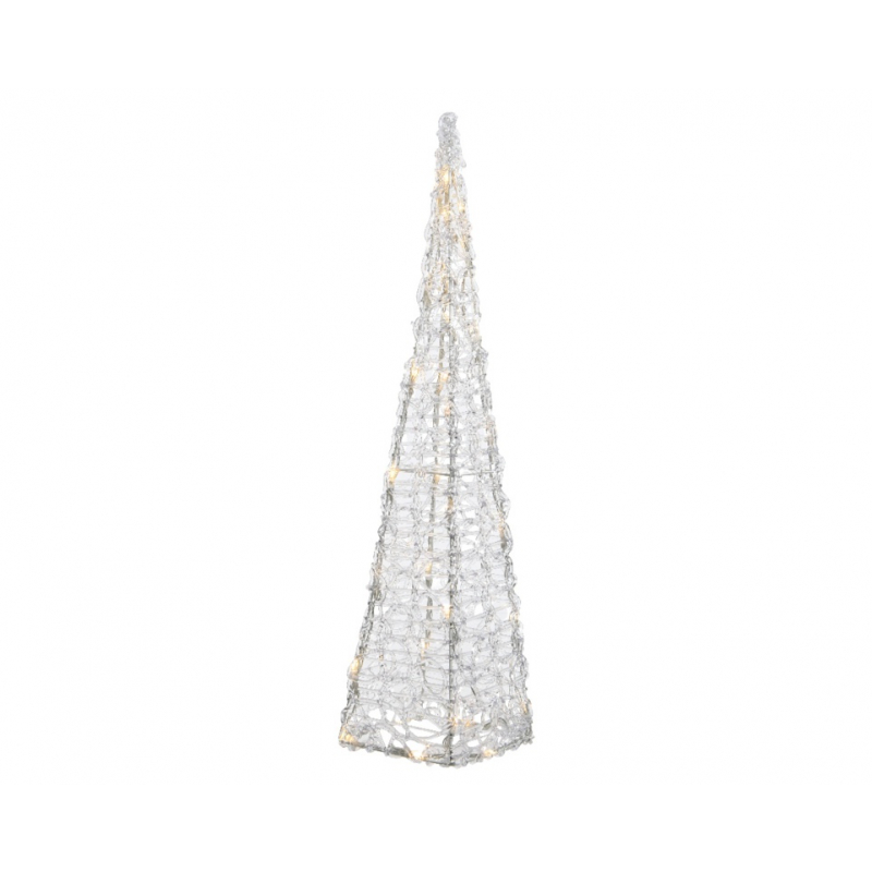 Kaemingk LED Acrylic Christmas Pyramid 120cm Warm White