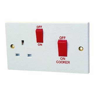 45A Cooker Panel with 13A Socket