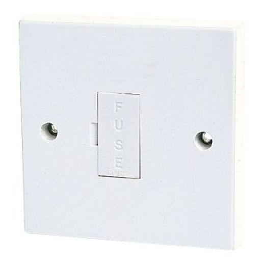 Standard White 13A Unswitched Fused Spur