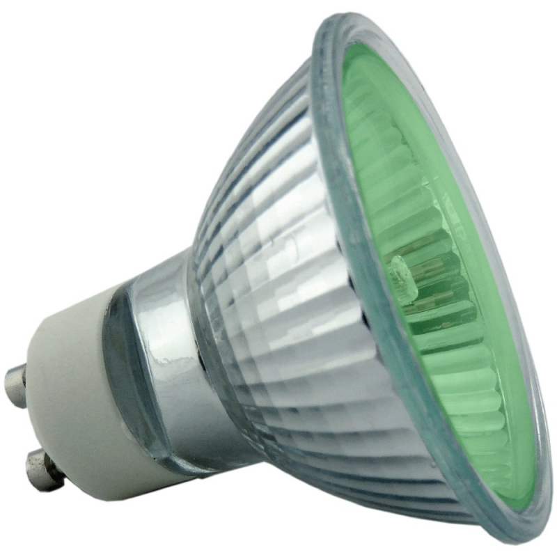 50Watt 35* Green Halogen GU10 Reflector