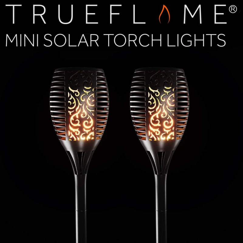 SolarCentre Solar Powered TrueFlame Mini Spike Lights With Flickering Flame