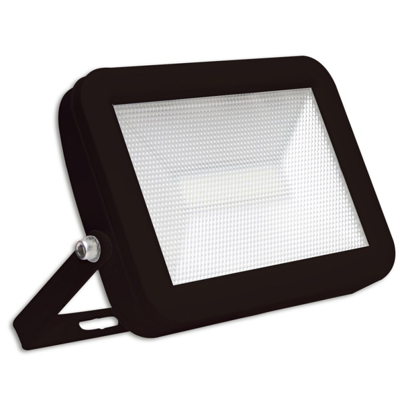 LyvEco Black IP65 10W LED Slim Floodlight 6500K 9717B