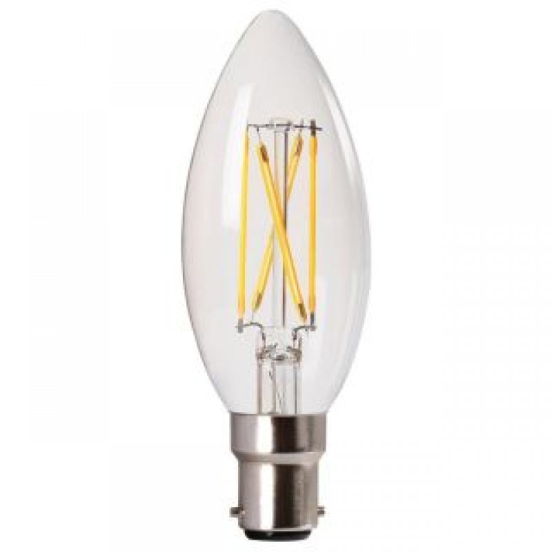 Amitex AX437 3.5W Dimmable Filament Candle lamp SBC/B15d 2700K