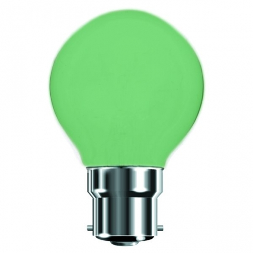 Green 25W BC Incandescent Golf Ball Lamp B7450G
