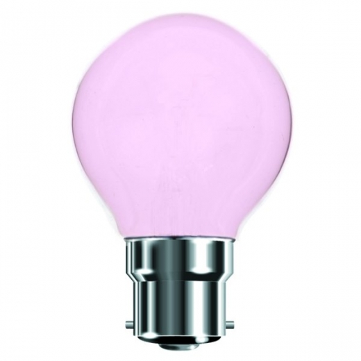 Pink 25W BC Incandescent Golf Ball Lamp B7450P
