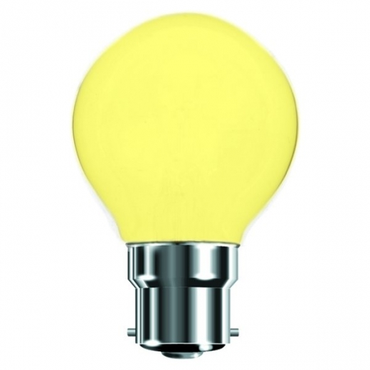 Yellow 25W BC Incandescent Golf Ball Lamp B7450Y