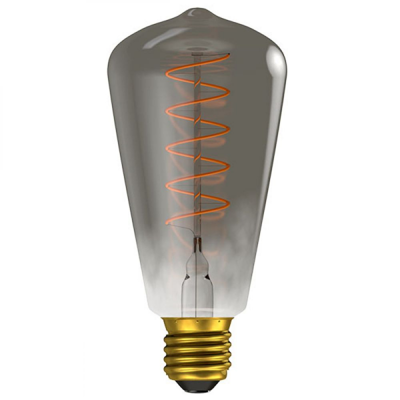 BELL 4W ES/E27 Dimmable LED Filament Gunmetal Squirrel Cage ST64 60028