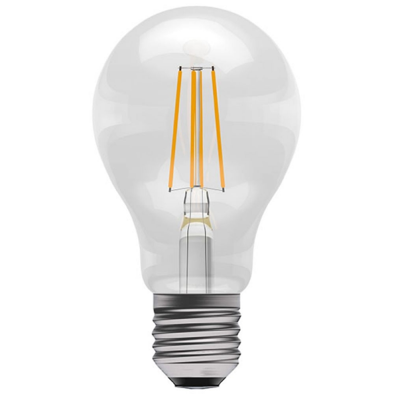 BELL 60060 4W Amber Coloured LED Filament GLS ES/E27 Bulb