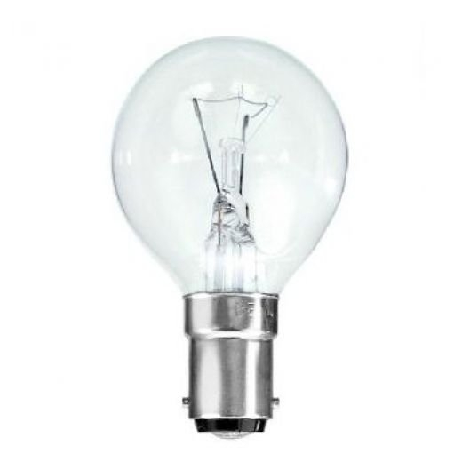 25Watt Clear SBC Golf Ball Lamp