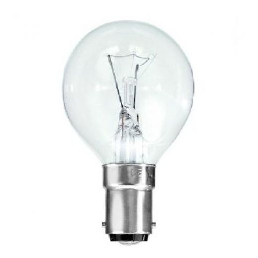 60Watt Clear SBC Golf Ball Lamp