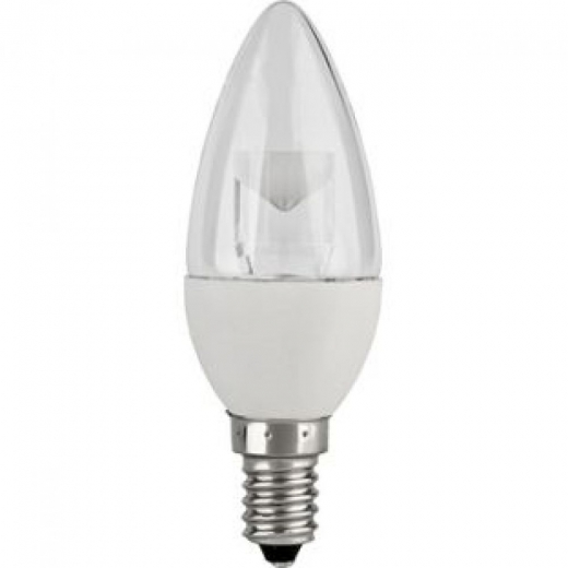 TCP 5Watt LED Candle 3000K Clear Non-Dimmable  LDB5WE14CLR3KV2