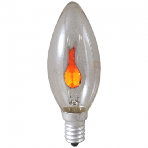 Flicker Flame Neon 3W SES Candle Bulb