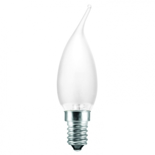Flame Tip Frosted/Pearl 60W SES E14 Candle Bulb
