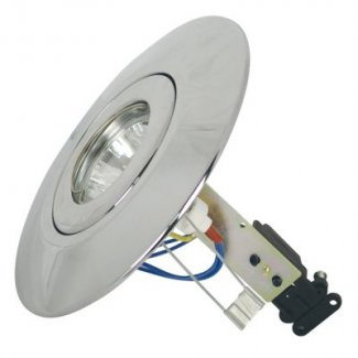 Chrome GU10 Low Voltage Ceiling Converter CR80CR