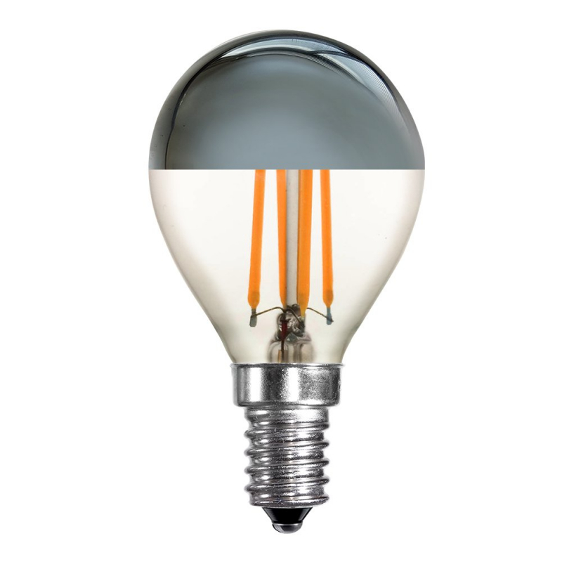 Schiefer LED 4W Cap Crown Silver Golfball SES/E14