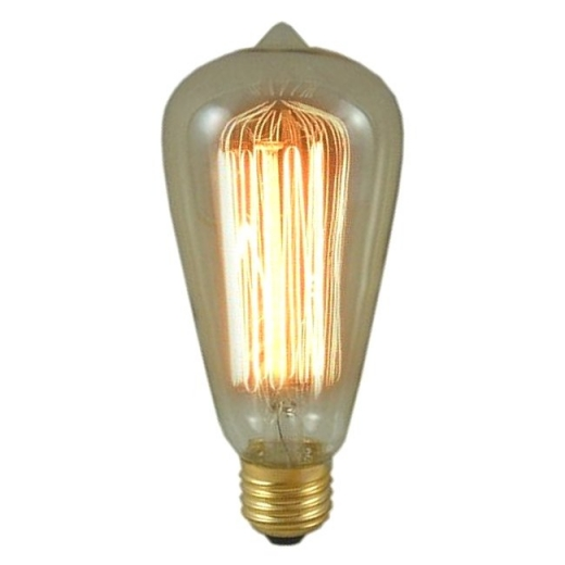 Gold Tint Antique Squirrel Cage Lamp 60W ES