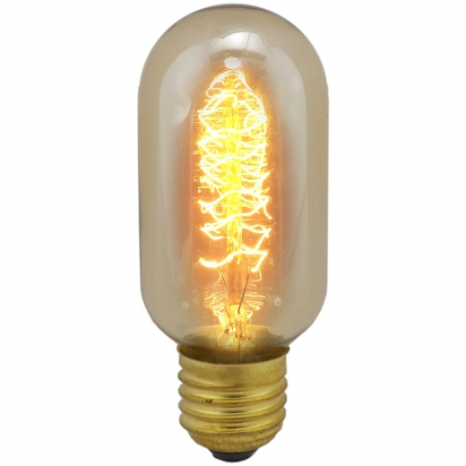 Vintage Lantern Lamp 40W ES Amber With Twisted Filament 01492