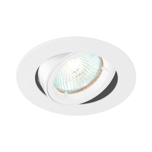 White Cast Tiltable GU10 Downlight