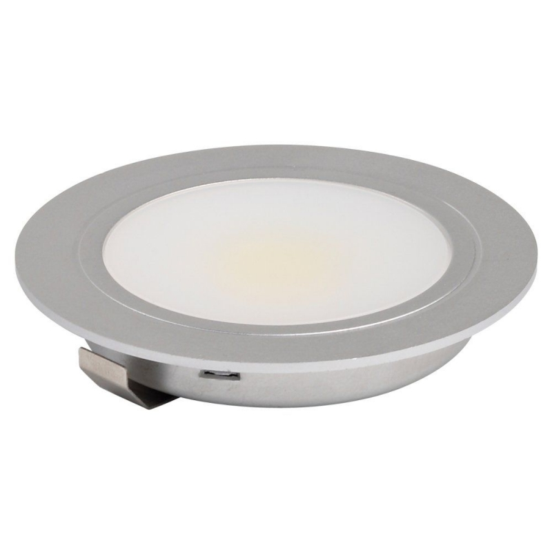 Leyton Lighting Warm White Recessed 3W LED Downlight Stainless Steel
