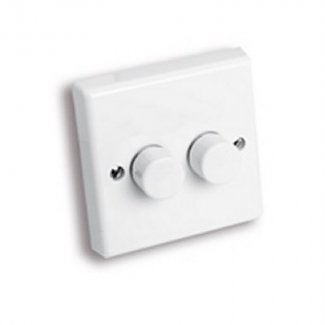 White 2-Way Dimmer Switch With Integrated Neon Indicator