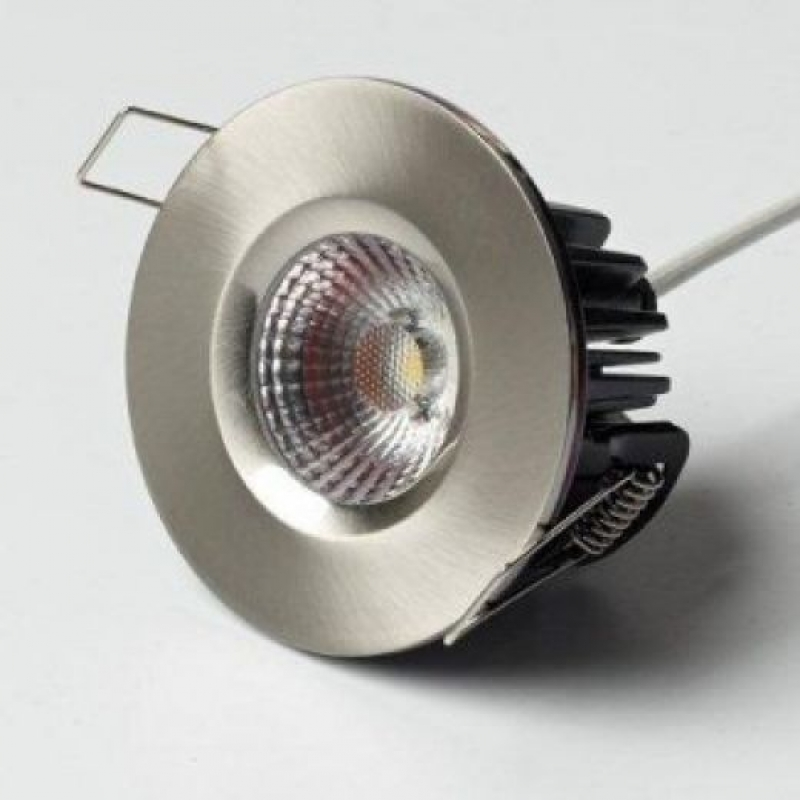 ELAN-LED Reflector COB Fixed Fire Rated Downlight Brushed Nickel