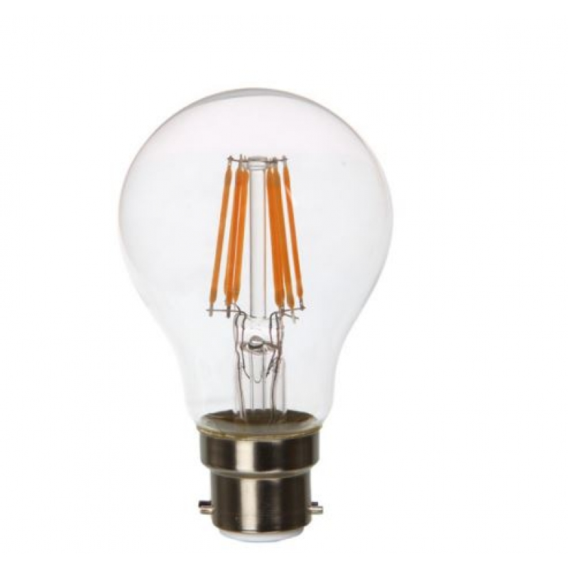 VLED GLS LED Filament 240v 6w BC Clear Dimmable 2700k FIL051
