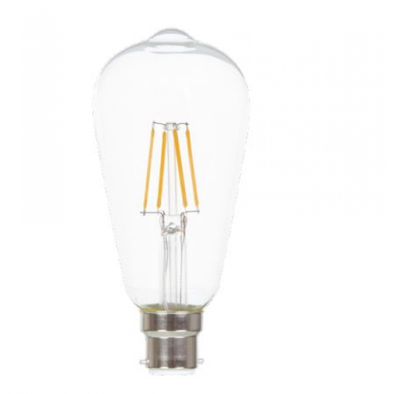 VLED ST64 Squirrel Cage LED Filament Dimmable 5w BC/B22D FIL069