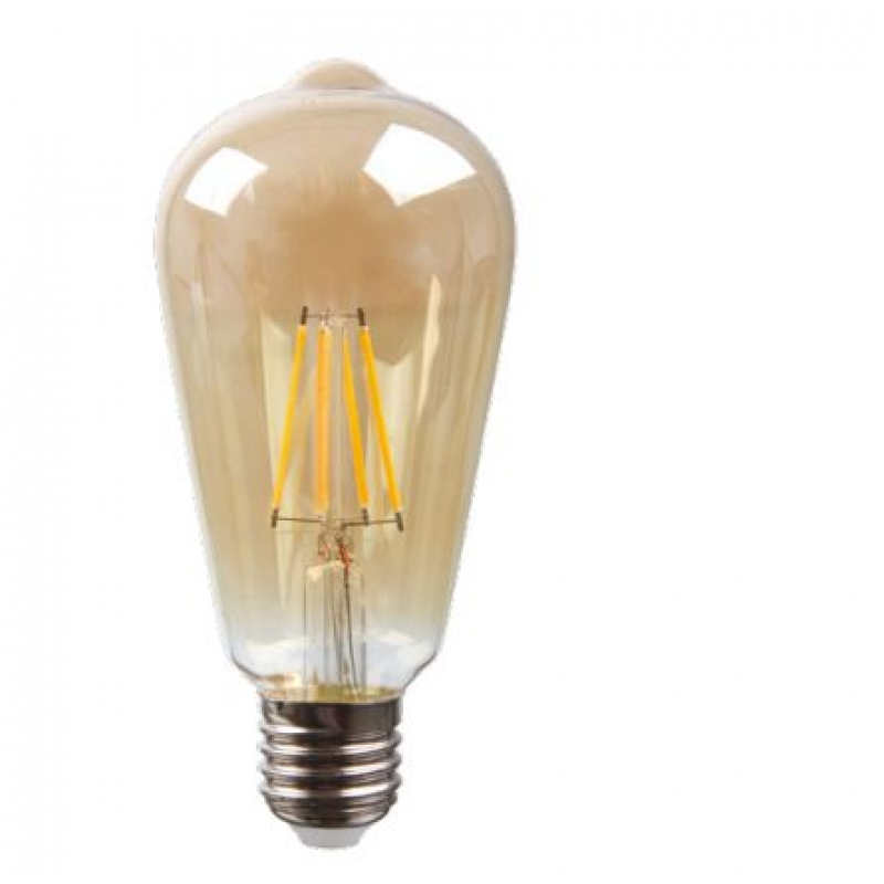 VLED Gold Tint ST64 Squirrel Cage LED  5w ES/E27 DimmableFIL071