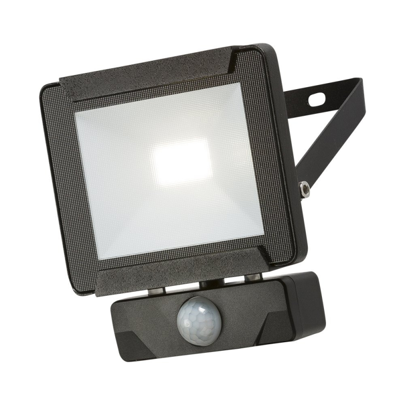 Knightsbridge IP65 10W LED Floodlight with PIR Sensor 4000K FLR10P