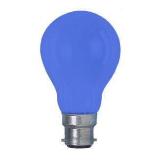 Colourglazed Standard GLS Blue BC 25W Lamp