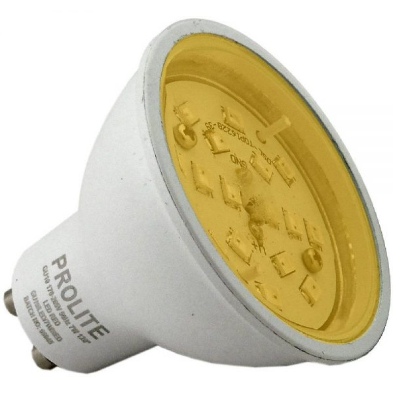 Prolite 7W GU10 Amber Colour LED