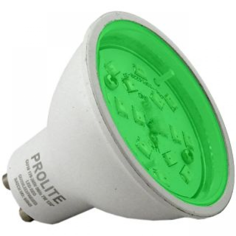 Prolite 7W GU10 Green Colour LED