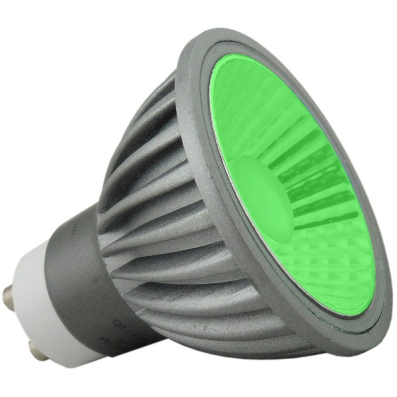 Deltech 6W Green LED GU10 Dimmable 36 Degree Flood