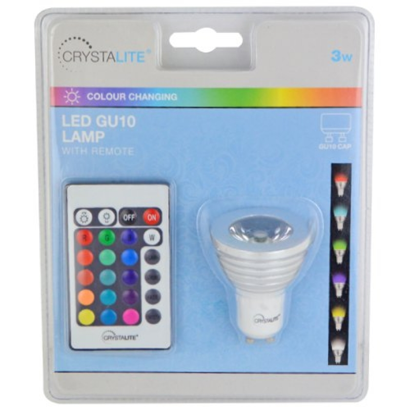3W Red Green Blue Colour Changing LED Complete With Remote
