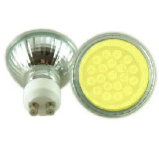 Deltech LED GU10 Yellow Light Bulb DL-9021Y