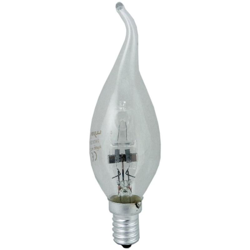 Schiefer Halogen 28W Energy Saving Clear Flame Tip Candle SES