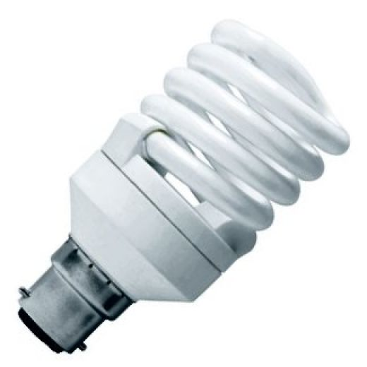 CFL 20Watt BC Evo T2 Ultra Compact Low Energy Helix Lamp