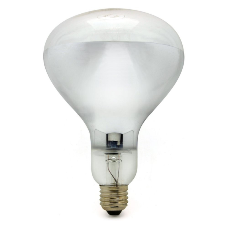 Infrared 250W E27/ES Clear Hard Glass Heat Light Bulb