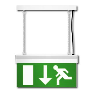 Eterna White LED Emergency Exit Sign