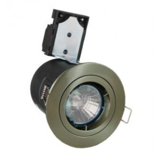 Brushed Nickel GU10 Fire Rated Downlight