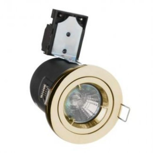 Brass GU10 Fire Rated Downlight
